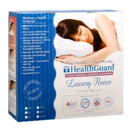 Mattress Protector Standard HealthGuard Luxury Fleece